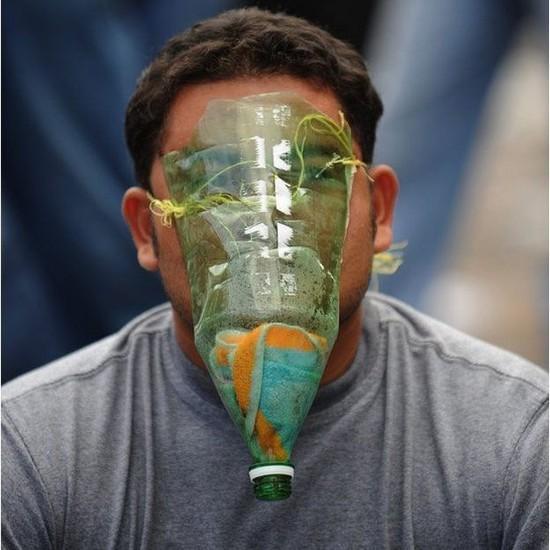 Réaliser soi-meme son propre masque filtrant contre le virus A/H1N1
