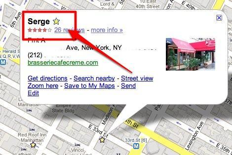 google maps star 1 La version mobile de Google synchronisera vos commerces favoris