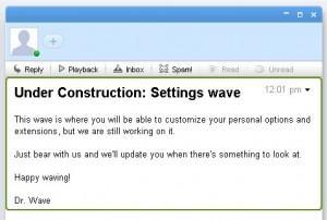 Google Wave en construction...