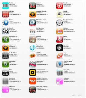 32 barcode applications on Appstore (1D, 2D)