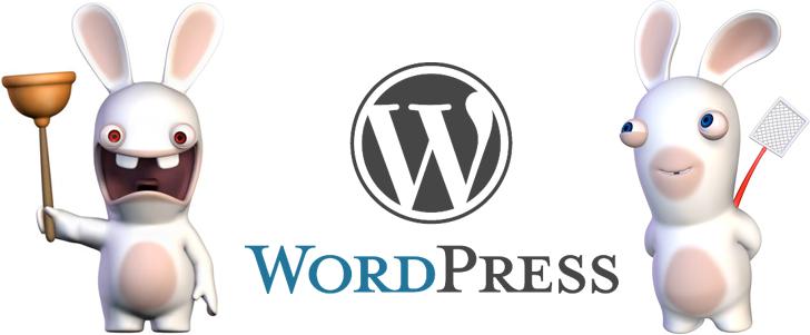 Wordpress et les Lapins Crétins
