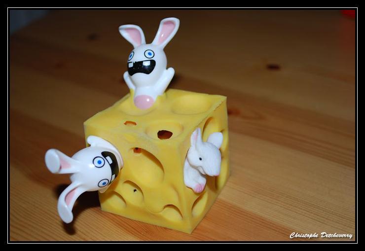 Lapins crétins dans le fromage