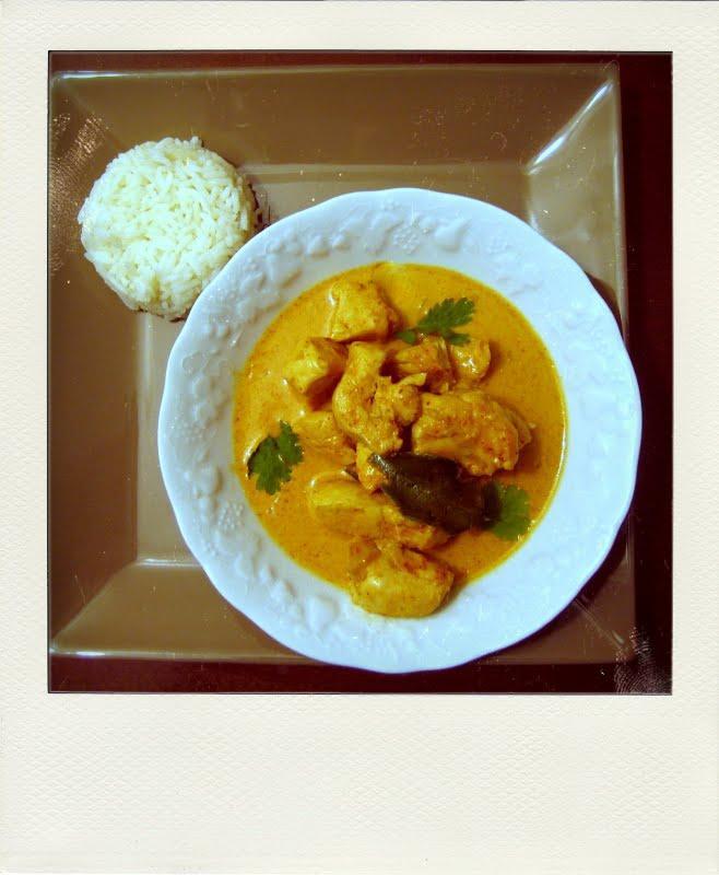 Curry rouge de poulet accompagné de son riz jasmin inspiré d'une recette de Ken Hom