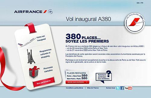 Vol inaugural A380, Air France
