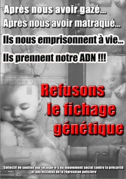 Soutenir les militants jugés pour refus de fichage ADN par Renaud Helfer-Aubrac
