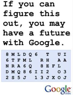 Vous voulez travailler chez Google?