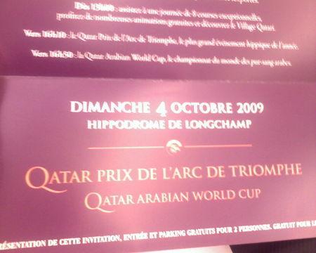 Le prix de l'arc de triomphe se vend au Qatar