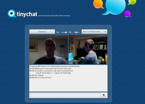p2p tinychat TinyChat lance un service de tchat vidéo haute qualité