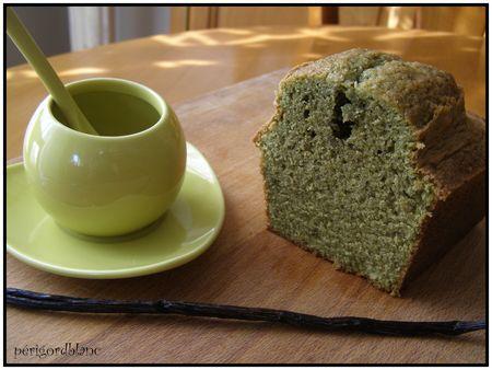 cake au the vert matcha et vanille paperblog. Black Bedroom Furniture Sets. Home Design Ideas