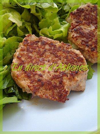 PLAT COMPLET : Les biftekia