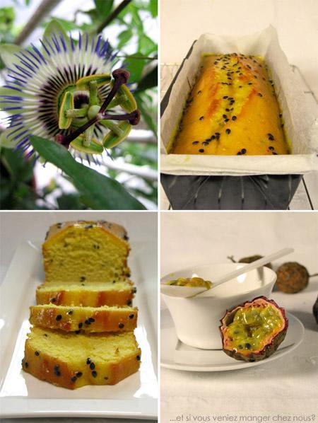 Cake au citron et sauce de fruits de la passion
