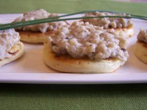 Blinis au caviar d'aubergine