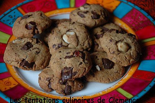 Cookies beurre de cacahuete, choco, noisette