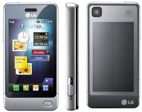 LG telephone solaire LG Electronics lance son telephone solaire
