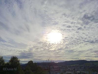 La Chaux-de-Fonds:  ciel d'automne octobre 2009