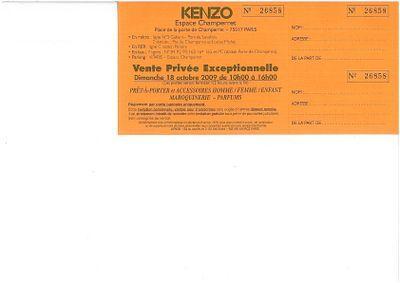 Invitation kenzo