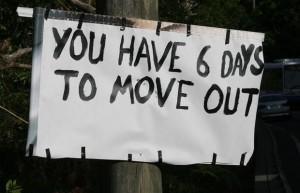 tu as 6 jours pour déménager