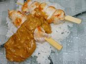 Brochettes poulet sauce beurre cacahuètes