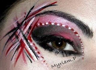 MakeUp artistique Rose et noir