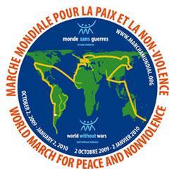 Marche Mondiale pour la paix et la non violence.