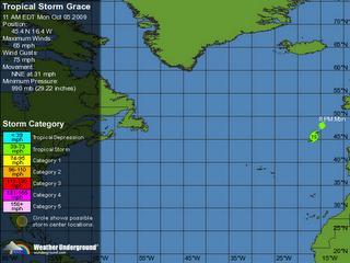 Tempête tropicale GRACE...