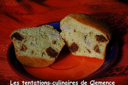 Muffins figues, filet mignon séché et noix