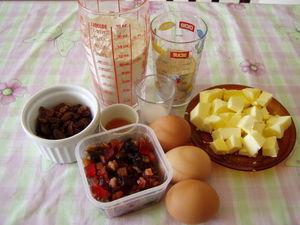 Mini cakes aux fruits confits et raisins secs