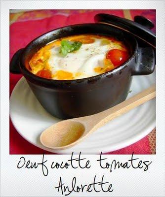 Se débarasser de ses veilles tomates #2 : oeuf cocotte à la tomate cerise