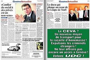 L'interprétation biaisée par des illettrés de la pub de l'UDC Genève