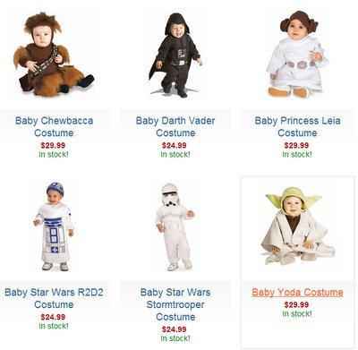Des costumes Star Wars... pour bébés !
