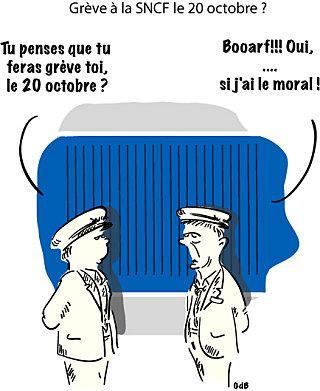 Grève à la SNCF le 20 octobre ?