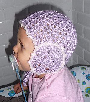 Un bonnet au crochet pour mon bébé