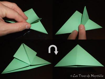 plier une grenouille vite fait origami toujours d couvrir. Black Bedroom Furniture Sets. Home Design Ideas