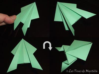 plier une grenouille vite fait origami toujours. Black Bedroom Furniture Sets. Home Design Ideas