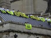 Greenpeace toit Westminster Londres