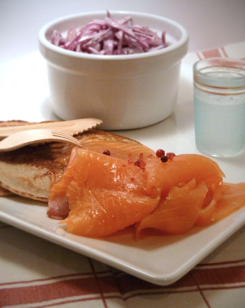 les blinis et salade de chou rouge pour votre saumon fum et la semaine du go t quelques. Black Bedroom Furniture Sets. Home Design Ideas