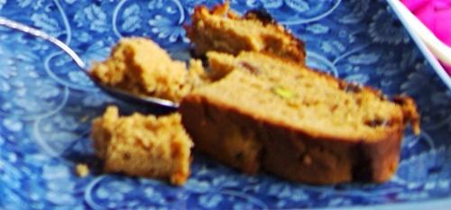 Le cake indien de Beena vu depuis mes rêves, nécessairement un peu flou...