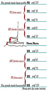 pied pilote vive eau morte niveau moyen bm pm niveau zero