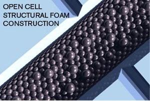 open cell structural foam construction