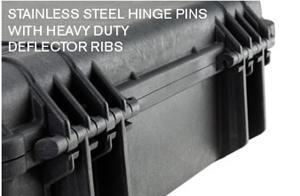 stainless steel hinge pins with heavy duty deflectors ribs