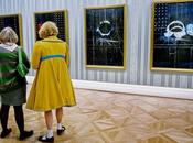 Damien hirst blue paintings london opening