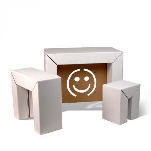 le mobilier en carton fait fort paperblog. Black Bedroom Furniture Sets. Home Design Ideas