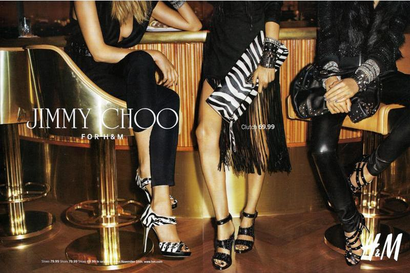 jimmy choo pour h m campagne de pub voir. Black Bedroom Furniture Sets. Home Design Ideas