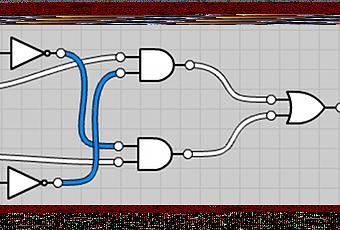 simulateur de circuits logiques simples en ligne