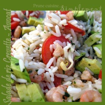 Salade de riz crevette avocat d couvrir - Quelle quantite de riz par personne ...