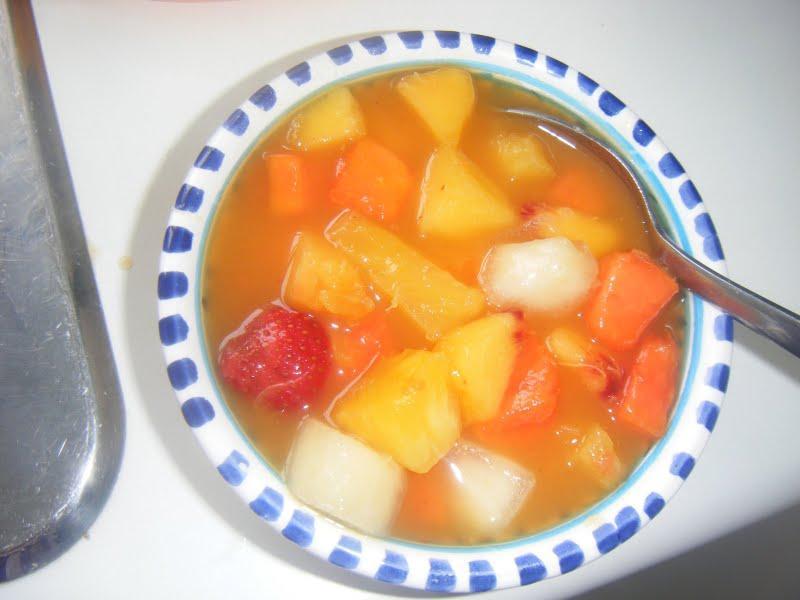 Salade de fruits pour un punch de vitamines