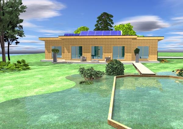 Conception bioclimatique d 39 une maison bois d couvrir for Conception maison bois