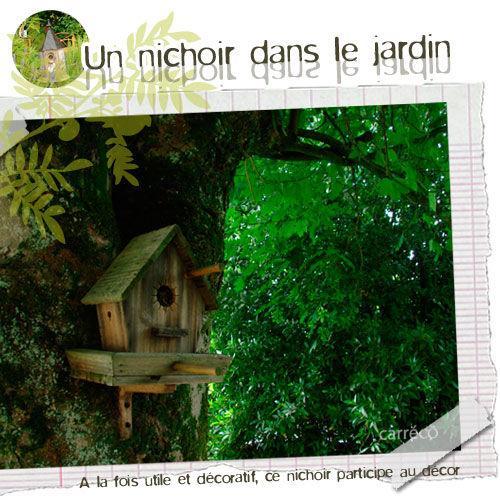 Nichoir En Bois A Decorer : Un nichoir en bois, en terre cuite, utile et joli pour d?corer votre