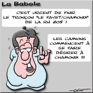 La Babole - RN205 ATMB : Il manque des camions à Chamonix !!!