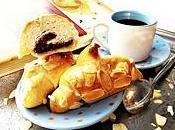 Petits croissants briochés fourrés frangipane cacaotée (sans oeuf vegan)